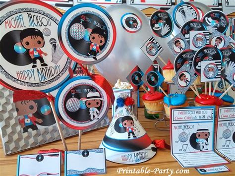 michael jackson themed birthday party inspired by michael jackson birthday party decorations
