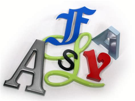 Outdoor Letters by Choosing An Outdoor Letter Material