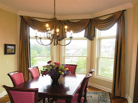 dining room drapery ideas indoor dining room curtain rods