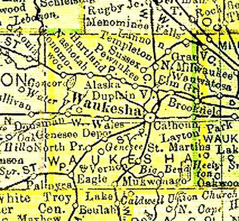 Waukesha County Records 1895 Waukesha County Map Waukesha County Wisconsin Waukesha County Wi