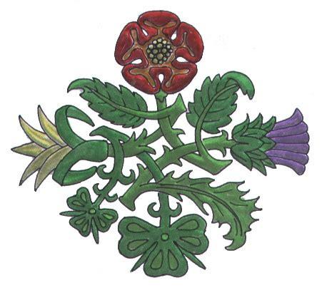 rose and thistle tattoo thistle scotland shamrock ireland