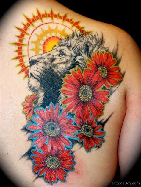 sunflower rose tattoo flower tattoos designs pictures page 41