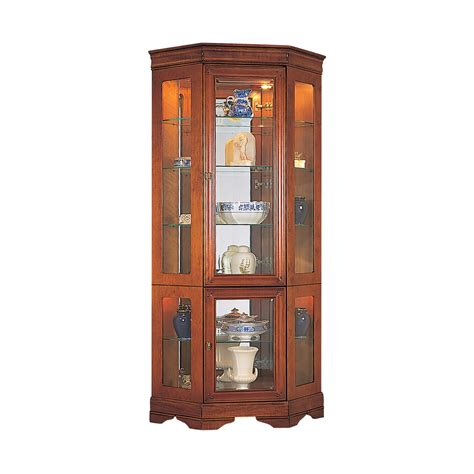corner cabinet with glass doors cherry corner display cabinet with glass doors