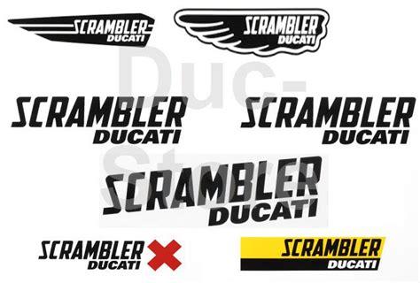 Ducati Scrambler Aufkleber by Ducati Scrambler Logo Aufkleber Set Der Ducati Store
