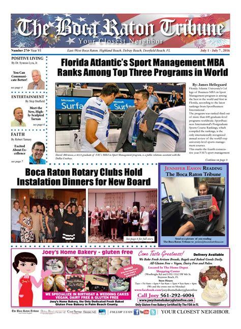 Fau Mba Sports Management by The Boca Raton Tribune Ed 274 By The Boca Raton Tribune