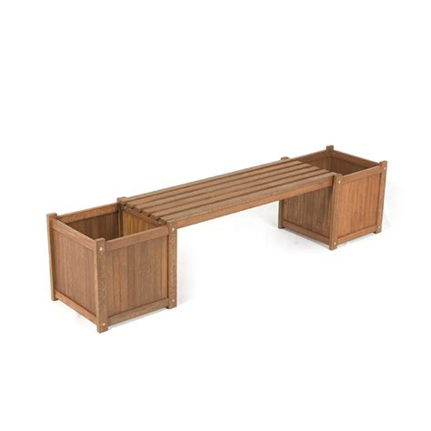 bench planter box wooden planters sale fast delivery greenfingers com