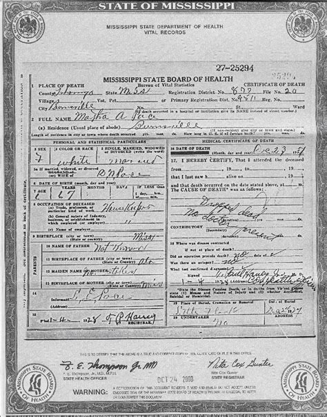 Mississippi Birth Records Free Mississippi Vital Records