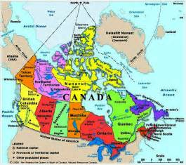 canada map with rivers