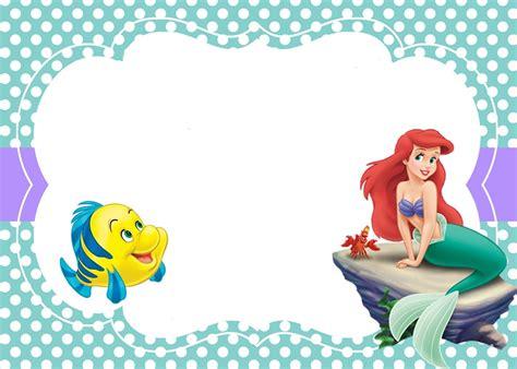 free ariel birthday invitations printable mermaid free printable invitation templates