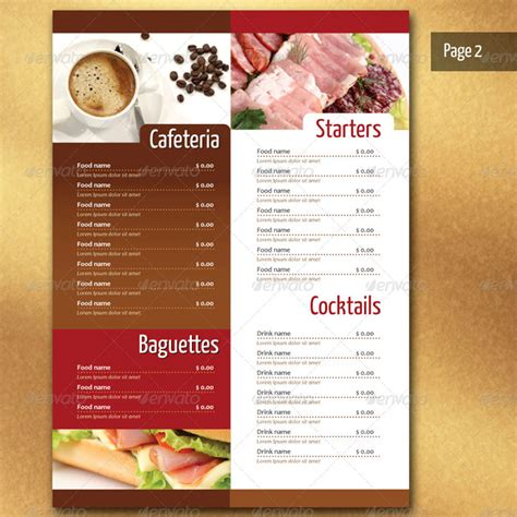 restaurant menu card templates 25 restaurant menu card design templates
