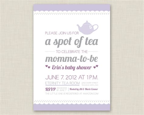 Baby Shower Invitations Uk by Template Tea Baby Shower Invitations