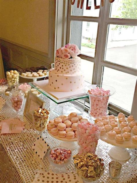 Wedding Theme Idea Pink And Gold Our One 5 by Bubbly Bar Blush Pink Gold Bridal Wedding Shower