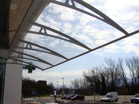 tettoie trasparenti pensiline trasparenti in policarbonato e in vetro
