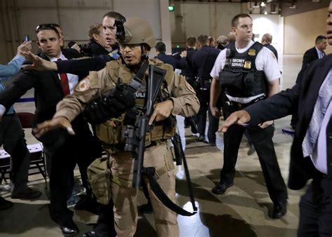 secret service secret service stage following disturbance at reno rally