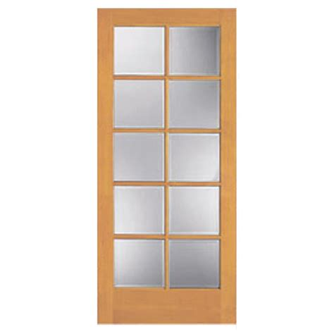 Shop Reliabilt 10 Lite Pine Slab Interior Door Common 30 Light Interior Door