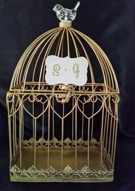Wedding Box Holder by Gold Wedding Birdcage Card Holder Wedding Card Box