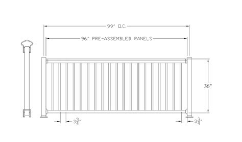deck railing sections avon breadloaf top aluminum deck railing