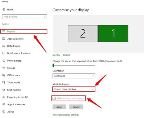 xp setup multiple websites how to setup and configure multiple monitors on windows 10