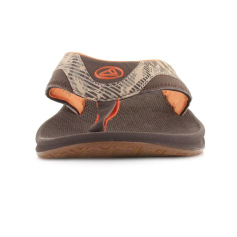 most comfortable mens flip flops mens reef fanning prints brown camo comfort bottle opener