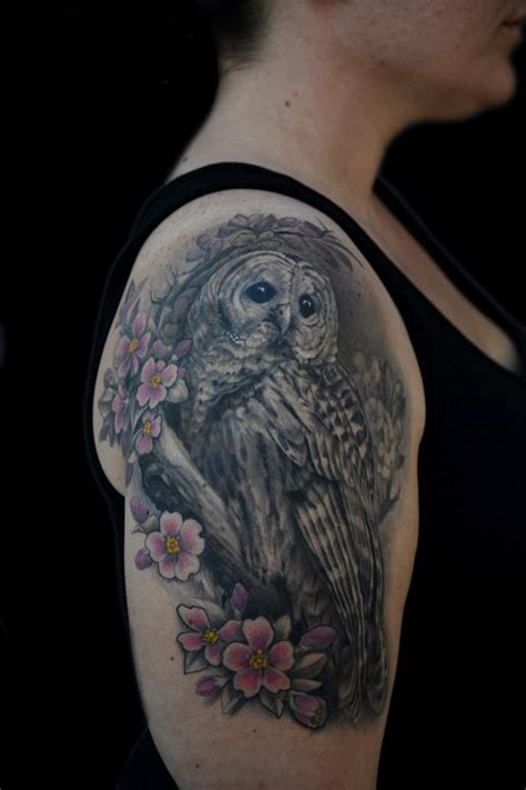 owl tattoo sleeve the map