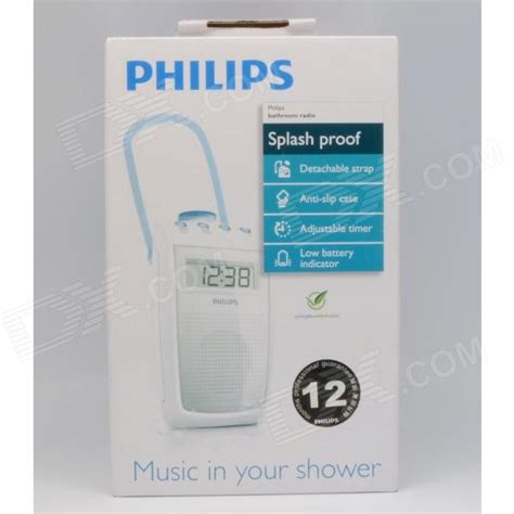 Philips Bathroom Radio Ae2330 Reviews Philips Ae2330 00 Bathroom Splashproof Clock Radio 3x Aa