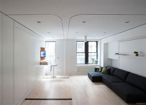 Moving Interior Walls by Compact Smart Studio Apartment In Soho With Moving Wall