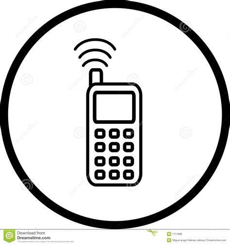 imagenes para celular hechas con simbolos s 237 mbolo del tel 233 fono celular imagen de archivo libre de