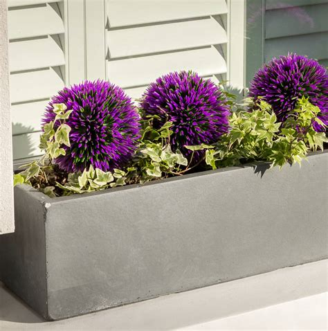 large window box large window box planter in parisian grey by bay and box