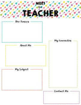 meet the teacher templates by caitlin miller teachers