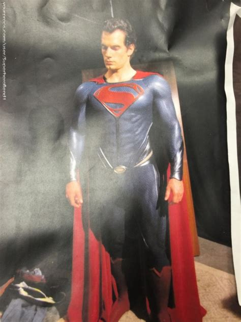 film man up online unused man of steel superman suit images pop up online