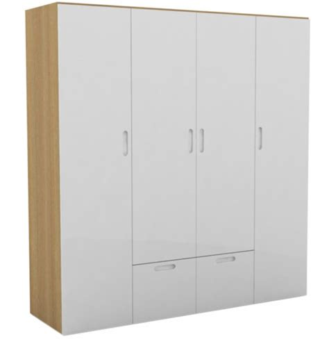 godrej interio mist four door wardrobe in warm white finish by godrej