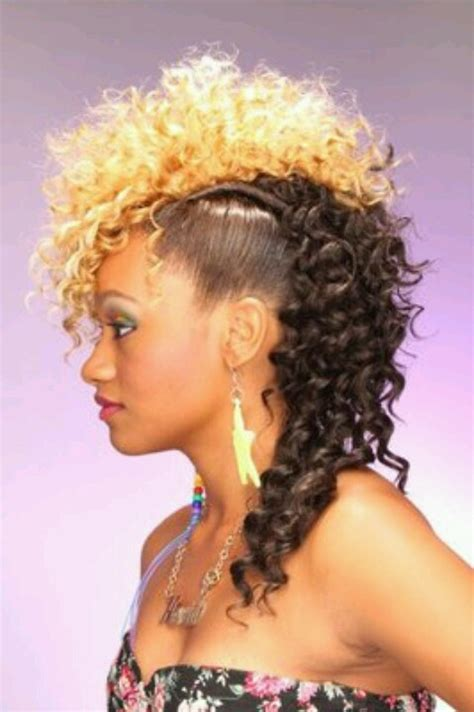 how to do mohawk sew in hairstyles mohawk sew in weave hairstyles short hairstyle 2013