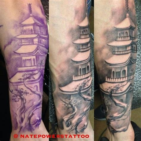 japanese temple tattoo designs buddhist temple fitness tattoos