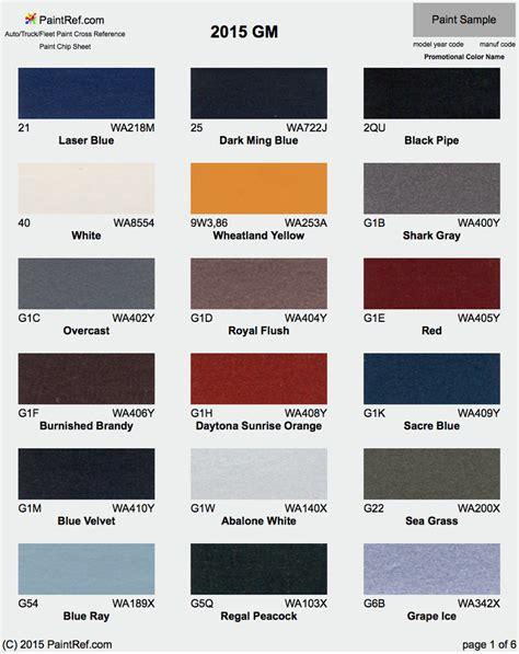 Exterior Color Chart For 2016 Corvette   2017   2018 Best