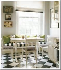 Black And White Kitchen Floor And Checkered Floors And Black Doors