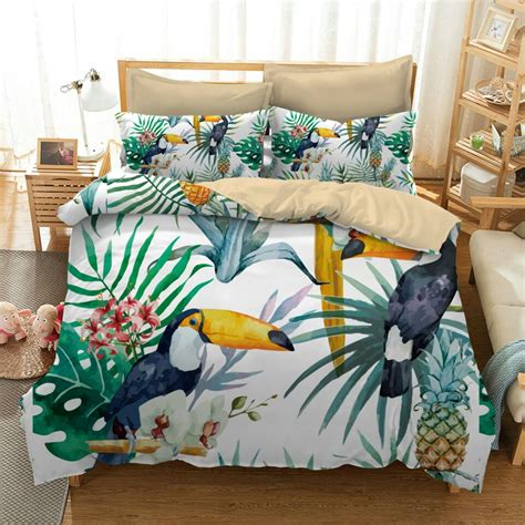 Premium Bedding Sprei 2 luxury flamingo mandala peacock bedding set 2 3pc printed bohemia duvet cover linens pillowcase
