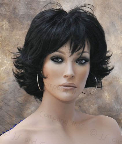 updated flip hairdo classy and chic everyday wig multiple layers off black