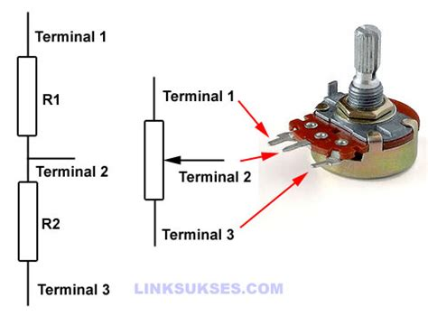 komponen elektronika potensiometer link sukses