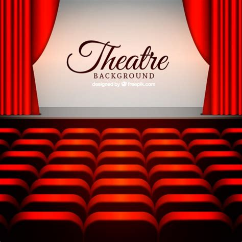 free stage background design vector theatre stage with armchairs background vector free download