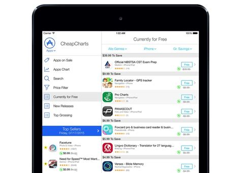 ipad apps iphone apps deals and discovery at app shopper cheapcharts can now help you save money on iphone and ipad