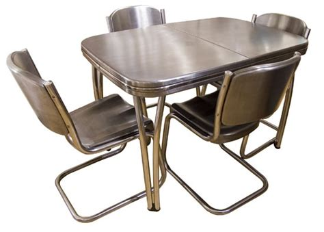 1950 Kitchen Table And Chairs Retro Metal Table And Chairs 1950s Style Retro Dining Set Formica Table 4 Retro Retro Kitchen
