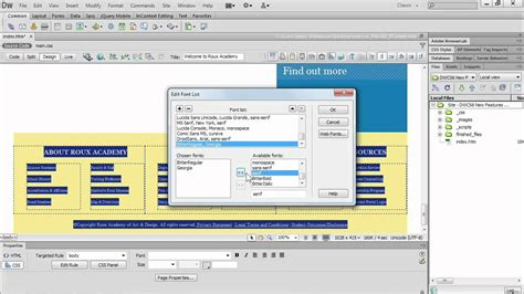 dreamweaver tutorial lynda using the dreamweaver cs6 web fonts manager lynda com
