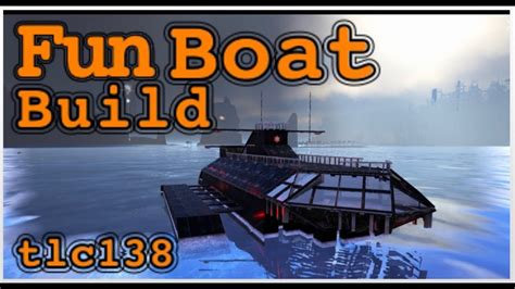 how to make a boat base in ark ark boat ship base build youtube
