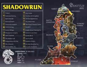 Shadowrun Seattle Map by Tg Traditional Games