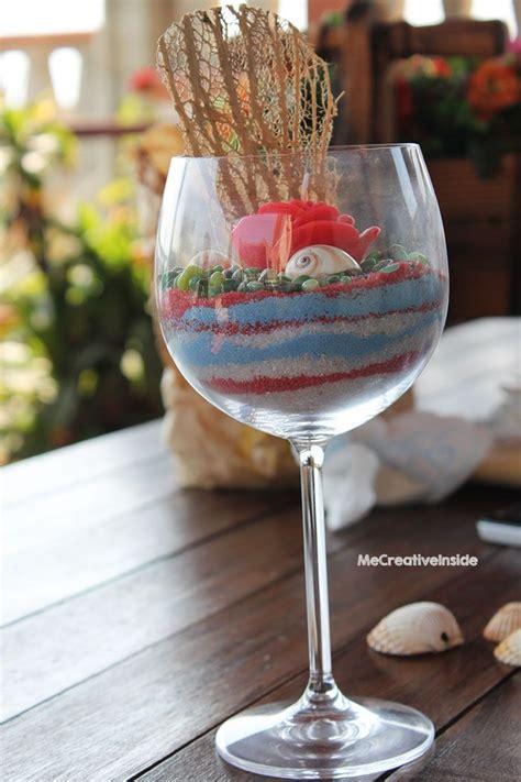 sabbia colorata per vasi centrotavola calice di sabbia colorata me creativeinside