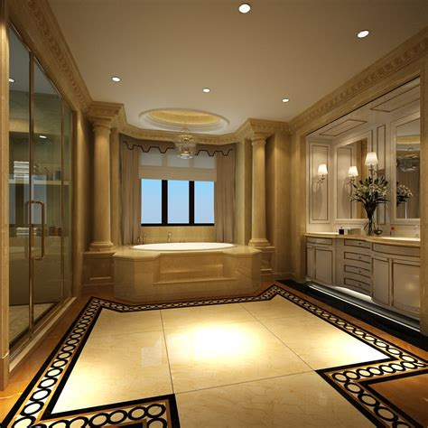 big bathroom luxury bathroom with huge bath 3d model max cgtrader com