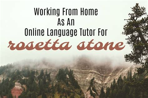 rosetta stone work from home rosetta stone featured real ways to earn