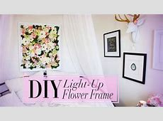 DIY Flower Frame with Christmas Lights Garden And Gun Cover