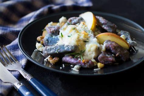 Link Sweet Potato Gnocchi With Gorgonzola by Purple Potato Gnocchi With Gorgonzola Sauce Recipe