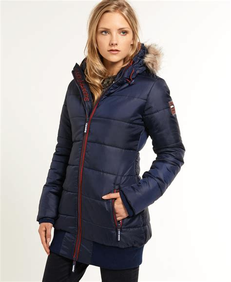 Gp Puffer Jacket Jacket Branded superdry sports puffer with navy